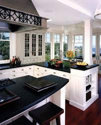 White Kitchen Cabinets With Black Granite Countertops White Kitchen Cabinets With Granite Countertops Kitchen Installation