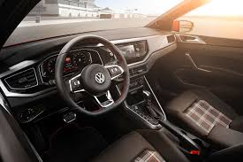 white volkswagen gti interior vw polo 2018 in pictures by car magazine