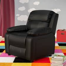 Childrens Leather Chair And Footstool Kids U0027 Recliners