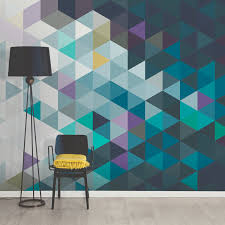 brewster home fashions photorealistic wall murals touch of modern abstract triangles