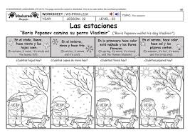 spanish ks2 level 3 ks3 year 7 the seasons calendar