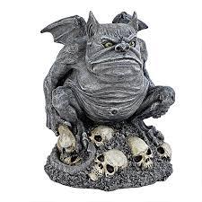 spirit halloween gargoyle bone chiller the troll gargoyle statue cl6140 design toscano