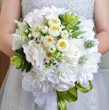 flowers for cheap new design white beautiful bridal bouquets wedding suppliers