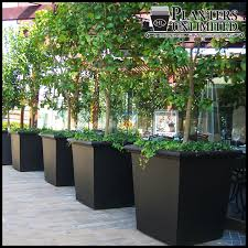 square fiberglass planters commercial sized planters large