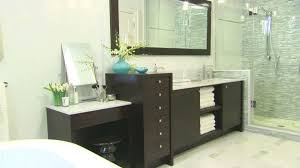small bathroom remodel ideas with black cabinet under big dark