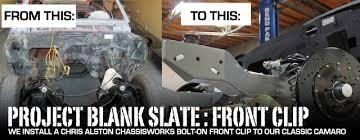1968 camaro suspension upgrade blank slate chris alston chassisworks front suspension upgrade
