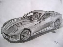 ferrari sketch drawn ferrari draw a pencil and in color drawn ferrari draw a