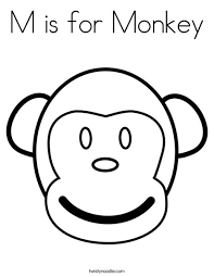 twisty noodle coloring pages m is for monkey coloring page twisty noodle preschool