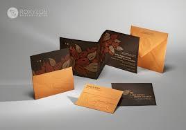 Wedding Invitation Folded Card Foliage Wedding Invitation