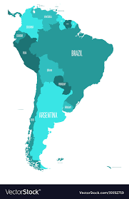 colombia map vector political map of south america simple flat vector image