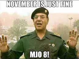 November Meme - november is just fine mjo 8 meme baghdad bob 65866 memeshappen