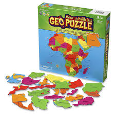 Africa Map Quiz Game by Amazon Com Geopuzzle Africa And The Middle East Educational