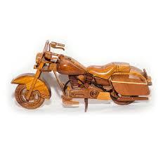 harley davidson police cop wooden motorcycle model