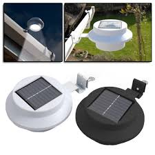 Solar Powered Fence Lights - new 2017 version 50 brighter 12x 3 led solar fence gutter outdoor