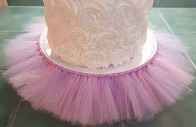 tutu decorations for baby shower cake stand tutu pink lavender cupcake tulle skirt decorations baby