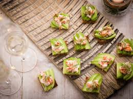 canapes finger food avocado and prawn cocktail toasts recipe olive magazine