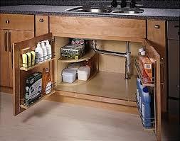 under sink storage racks on doors and mini shelf kitchen