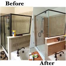 Onyx Shower Doors by New Rebath Terra Stone Wall System With Custom Frameless Glass