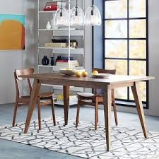 West Elm Parsons Expandable Dining Table Polyvore - West elm dining room table