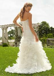 high low ruffle wedding dress mori madeline gardner bridal stunning embroidered lace