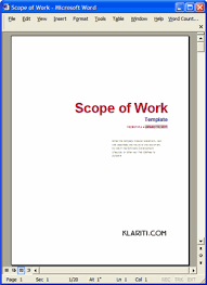 Scope Of Work Template Excel Scope Of Work Template Ms Word Excel Templates