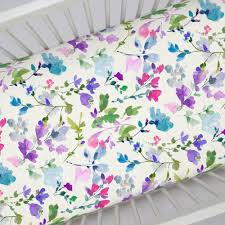 Sheets For Crib Mattress Bright Wildflower Crib Sheet Carousel Designs Crib Mattress And
