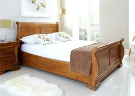 white sleigh bed frame u2013 bare look