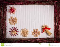 background for christmas greeting card holiday straw decoration