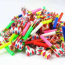 party favors 30pc birthday party favors multi color party blowouts whistles