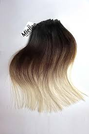 ombre extensions high contrast neutral ombre clip in extensions silky