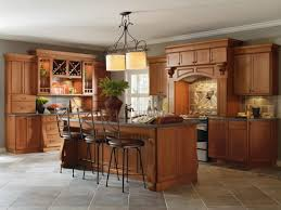 Kitchen Ideas With Cherry Cabinets by Cabbott Cherry Macarron Kitchen By Thomasville Cabinetry