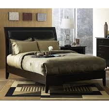 King Size Leather Sleigh Bed Padded Synthetic Leather King Size Sleigh Bed Free Shipping