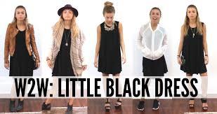 the black dress ways to wear the black dress
