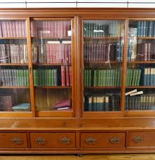 Bookcase With Sliding Glass Doors by Large Antique Sliding Glass Door Bookcase Ebth