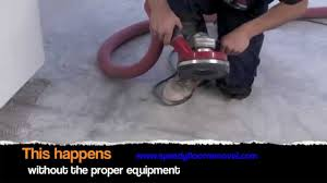 Removing Ceramic Floor Tile Speedy Dustless Ceramic Tile And Thinset Removal Youtube
