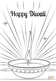 diwali diya coloring page free printable coloring pages