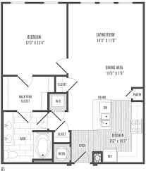 Plan 2 by 1 2 And 3 Bedroom Floor Plans U0026 Pricing Jefferson Square Apartments