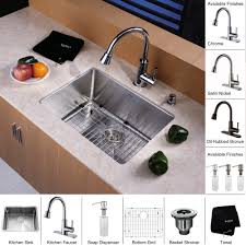 Kitchen Sinks And Faucets by Stainless Steel Kitchen Sink Combination Kraususa Com