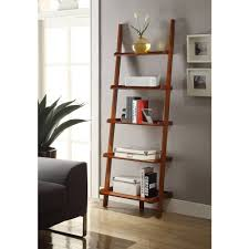 Sauder Ladder Bookcase by Convenience Concepts American Heritage 5 Shelf Ladder Bookcase