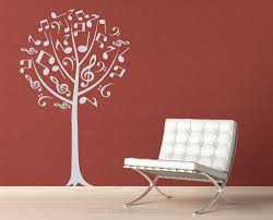 musical notes tree removable vinyl wall art music notes music zoom