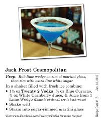 martini cranberry jack frost cosmopolitan twenty 2 vodka america u0027s most awarded