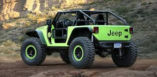 jeep comanche 2018 jeep trailcat crew chief 715 and other mean concepts to debut at