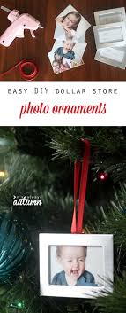 diy photo ornaments easy and cheap it s always autumn