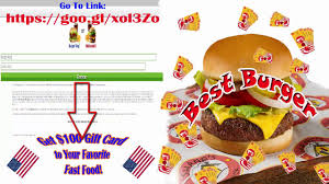 fast food gift cards get 100 gift card to yourfavorite fast food