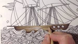 dagdrömmar daydreams coloring a ship part 1 prismacolor