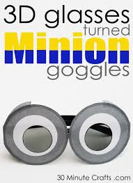 3d minion goggles 30 minute crafts