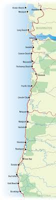 map of oregon lighthouses oregon coast and washington coast top destinations
