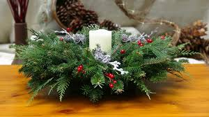 evergreen elegance centerpiece with led candle holiday