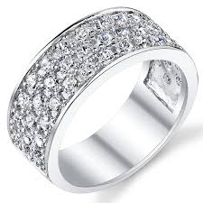 silver wedding ring sterling silver men s wedding band engagement ring with cubic