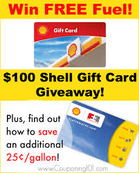gas gift card shell gas 100 gift card giveaway couponing 101
